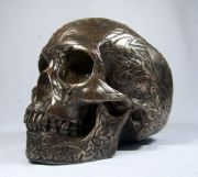 Bronze Sculpture Celtic Skull Bronzed Head By Design Clinic